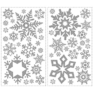 #!Cheap RoomMates RMK1413SCS Glitter Snowflakes Peel & Stick Wall Decals