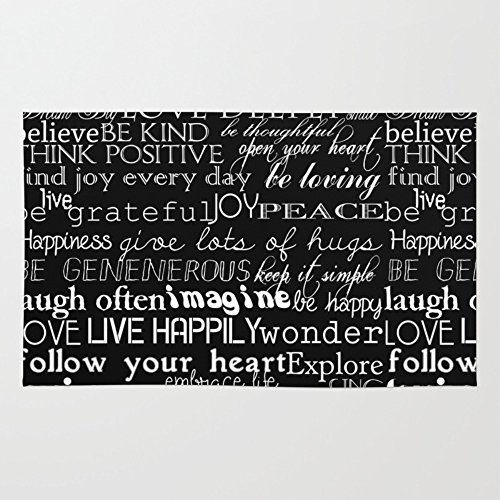 Society6 Inspirational Words Rug 2' x 3'