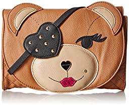 Betsey Johnson Cray Creatures Meow Clutch, Spice, One Size