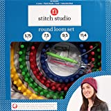 Creative Hobbies® Round Knitting Loom Complete Set w/ 4 Looms, Needle, Hook & Instructions