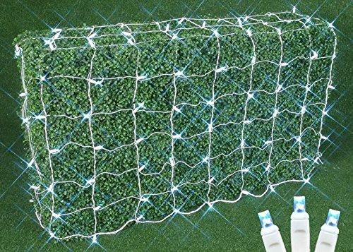Commercial Grade Christmas Led Net Light Set, 4' X 6', Pure White, White Wire, 150 Light