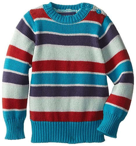 Andy & Evan Baby-Boys Infant Teal Multi Stripe Sweater, Aqua, 12-18 Months back-1014293