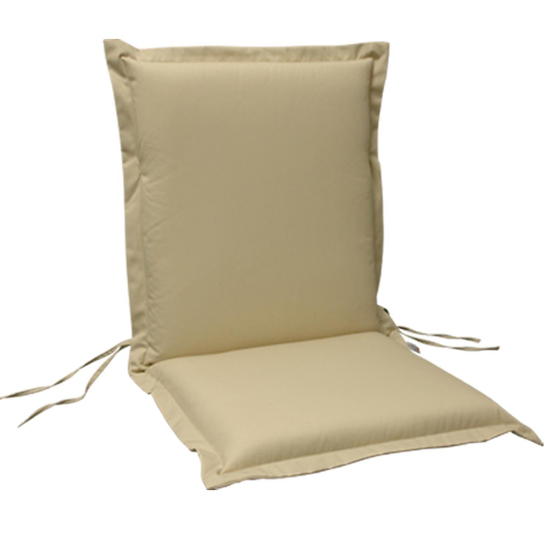 indoba® IND-70451-AUNL-6 – Serie Premium – Gartenstuhl Auflage – Niedriglehner, extra dick, Beige – 6 Stück günstig online kaufen