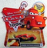 SOAKED LIGHTNING MCQUEEN #10 Disney / Pixar CARS 1:55 Scale Cars Toon Die-Cast Vehicle