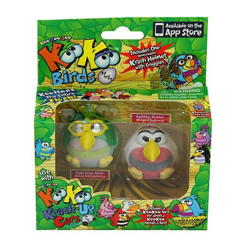KooKoo Zoo Flocked Birds 2-Pack - Scalawag and Lollapalooza - 1