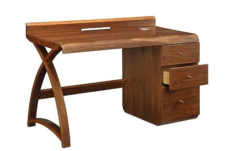 Jual PC601 3 Drawer Walnut Pedestal Desk
