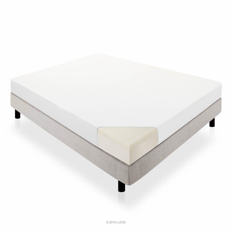 LUCID 10 Inch Memory Foam Mattress – Dual-Layered – CertiPUR-US Certified – 25-Year Warranty – QUEEN