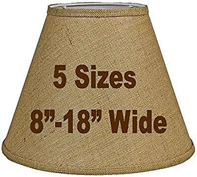 "14""W Tapered Burlap Lamp Shade Vintage Rustic Country Industrial Primitive Western Table & Floor Lamps"