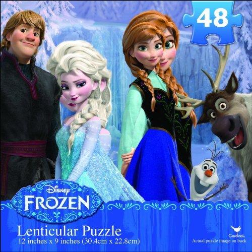 Disney FROZEN 3D RARE 48 piece puzzle lenticular puzzle 12 inches - 1