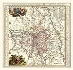 Historische Karte: Amt Leipzig, 1758...