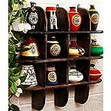Onlineshoppee Beautiful Black 3 Tier Wooden Wall Shelves/Rack Size LxBxH-20x4x20 Inch