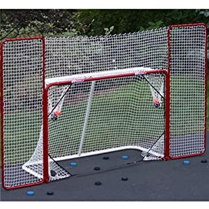 EZ Goal Steel Folding Hockey Goal with Backstop & Targets by EZGoal