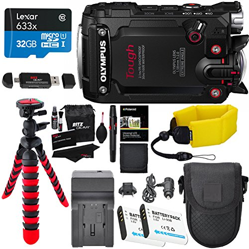 olympus-tg-tracker-waterproof-camera-black-lexar-32gb-polaroid-floating-strap-battery-charger-ritzge