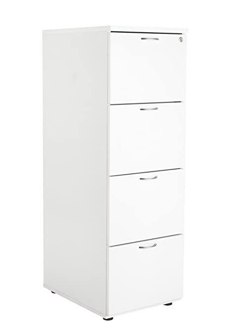 Office Hippo 4 Drawer Filing Cabinet - White