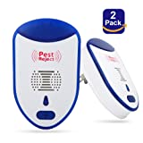 totobay Ultrasonic Pest Repeller, [2018] Newest Electronic Insect Repellent 2 PackIndoor Plug-In Repellentto Reject Rodent Bed Bug Mosquito Fly Cockroach Spider Rat Home Animal No Kill (2 PACK)