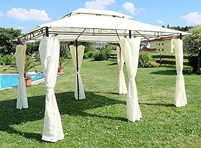 Eleganter Garten Pavillon Gartenpavillon 3x4 Meter mit 6 Vorhängen 2016-A von AS-S von AS-S auf Gartenmöbel von Du und Dein Garten
