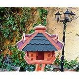 "Vogelhaus xxl, Futterhaus 53 cm Dach rot-blau E, wetterfestvon ""BTV Batovi"""