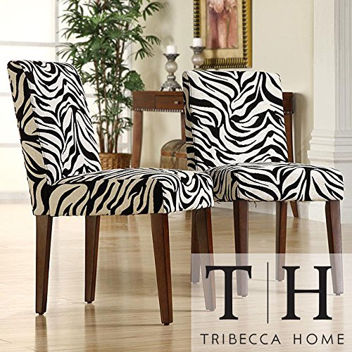 Metro Shop Tribecca Home Calista Zebra Print Dining Chairs (Set of 2)