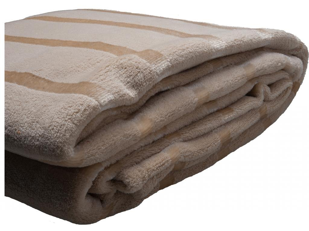 HS Coral Blanket Throw,Queen,King,Soft Blankets for Adults,Satin Stripe,Beige Cream Bedding,Best Gifts Women at Sears.com