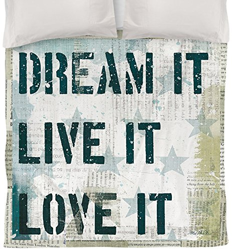 Thumbprintz Duvet Cover, Twin, American 2-Dream It, Live It, Love It