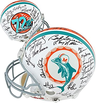 1972 Miami Dolphins 40th Anniversary Edition Autographed Pro-Line Riddell Authentic Helmet - Fanatics Authentic Certified