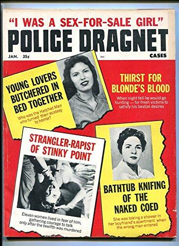 POLICE DRAGNET CASES Jan 1964-BUTCHERED-KNIFING-STRANGLER-RAPIST-BLOOD-TERROR FN (Butchered compare prices)