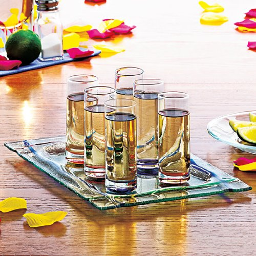 Amazon.com | Magnetic Shot Glass Set with Tray No Spill: Shot Glasses