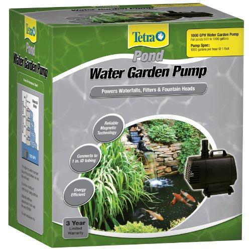 pumps for ponds: Tetra Pond Water Garden Pump 1000 GPH