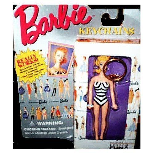 "4"" Original Barbie Introduced in 1959 Fashion Keychain by Mattel"