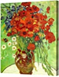 """DecorArts - Red Poppies and Daisies, by Vincent Van Gogh. The Classic Arts Reproduction. Art Giclee Print On Canvas, Stretched Canvas Gallery Wrapped, Easy to Hang. 24 X30"""""""
