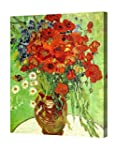 DecorArts - Red Poppies and Daisies,...