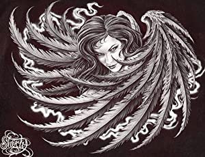 Dark Angel by Fernando Shorty Lopez Sexy Evil Woman Tattoo Canvas Fine