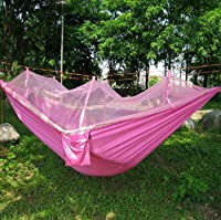 Crazy Shopping Camping Leisure Parachute Fabric Hammock with Mosquito Net from Crazy Shopping