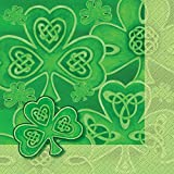 Saint Patrick's Day Clover Luncheon Napkins, 20ct