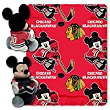 CHICAGO BLACKHAWKS NHL MICKEY MOUSE WITH THROW COMBO