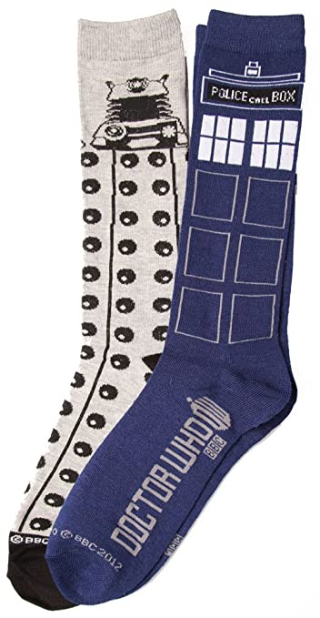 Doctor Who Tardis Dalek 2 Pack Socks