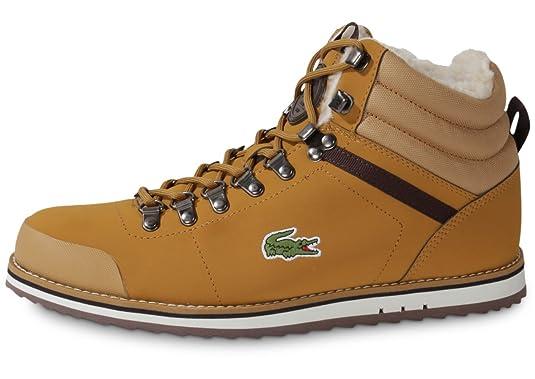 chaussure lacoste homme marron