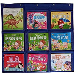 Wander Agio School Library Student Count Pocket Book Chart Card Wall Door Hanging Teaching Materials Organizer Blue