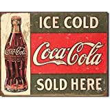 Tin Sign - Coke - C. 1916 Ice Cold , 16x13