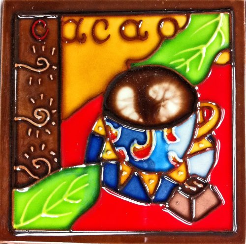 Continental Art Center SD-103 4 by 4-Inch Dark Coffee Set No.1 Ceramic Art Tile