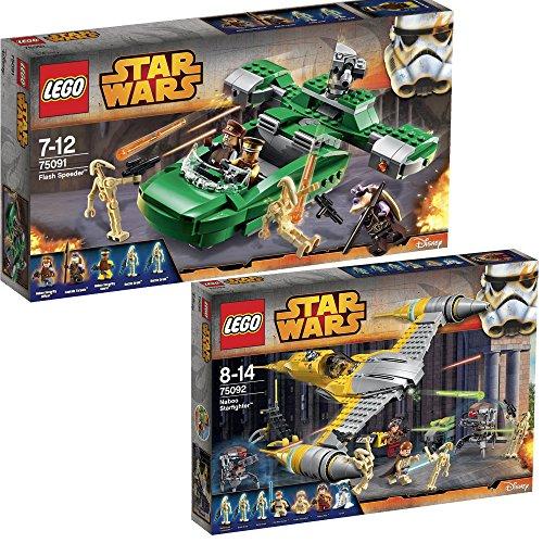 Lego Star Wars 2er Set 75091 75092 Flash Speeder + Naboo ...