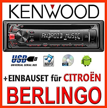 CITROËN berlingo kenwood kDC - 164 uR autoradio cD/mP3/uSB avec kit de montage