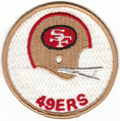 Vintage 1970s San Francisco SF 49ers 3 inch Round 2-Bar Helmet Patch (sew on) at Amazon.com