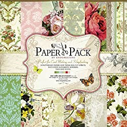 Craftdev Set Of 24 Thick Beautiful Pattern Design Printed Papers ,12 X 12 Inch