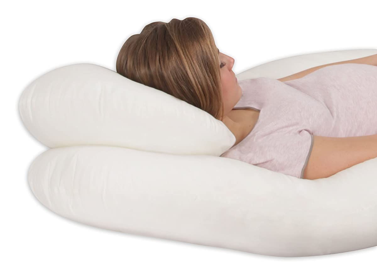 Leachco Back N Belly Contoured Body Pillow, Ivory