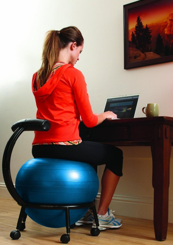 Amazon.com : Gaiam Custom Fit Adjustable Balance Ball Chair ...