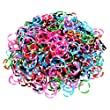 Ateam Loom Bandz, Gummib�nder in verschiedenen Farben, 600 St�ck, inklusive 25 Klammern Tie Dye Dark