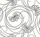 York Wallcoverings Tres Chic BL0340 Script Floral Wallpaper, White/Black