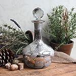 Antique Style Mercury Glass Decanter Bottle