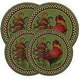 Range Kleen 5060 Angela Anderson's Rooster Design Burner Kovers, Set of 4